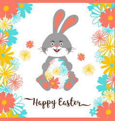 easter bunny happy easter card all objects are vector image