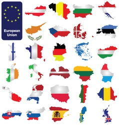 European Union Countries vector