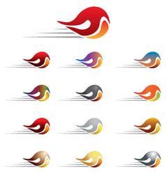 Fireball icon vector