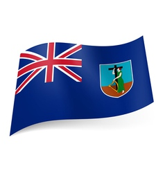 Flag of montserrat vector