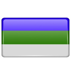 Flags Komi in the form of a magnet on refrigerator vector