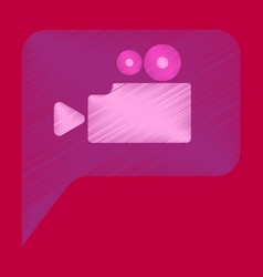 Flat icon in shading style cinema camera vector