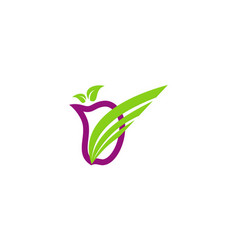 fruit abstract logo vector image