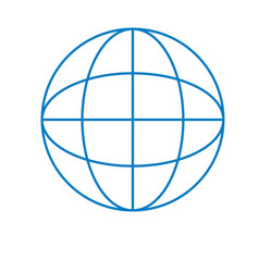 global symbol to data center connection vector image