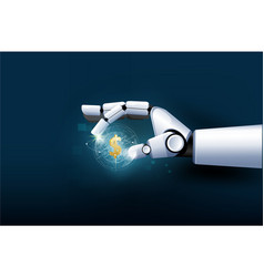 Hand robot business investment machine learning vector