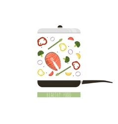 Healthy food in flat style vector image