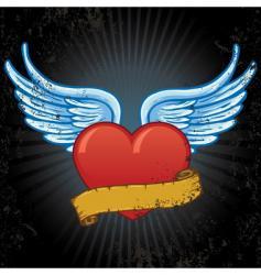 Heart banner vector
