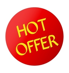 Hot offer red vector