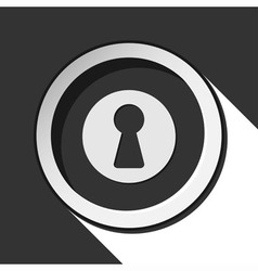 Icon - keyhole with shadow vector