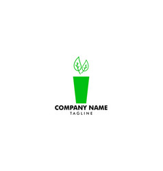 icon style logo for vegan or vegetarian smoothie vector image
