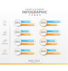 Infographic 4 steps modern chart element diagram vector