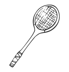 Inventory for badminton Racket vector