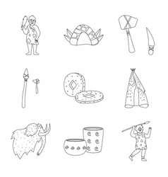 isolated object ancient and primitive symbol vector image