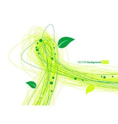Leafy lines vector