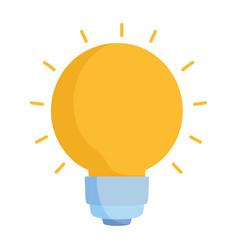light bulb creativity cartoon isolated icon style vector image