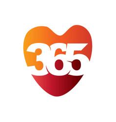 Love care 365 infinity logo icon design vector