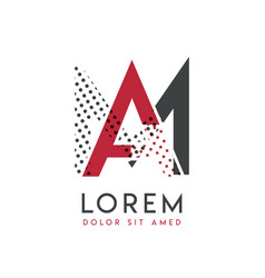 ma logo with gray and red color that can be used vector image