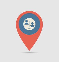 Map pin wc vector