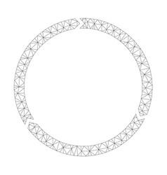 mesh rotation icon vector image