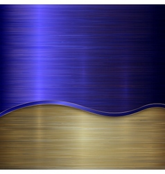 metallic background with curve vector image
