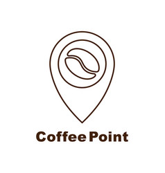 minimalistic logo for coffee shop logotype vector image