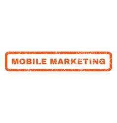 Mobile Marketing Rubber Stamp vector image