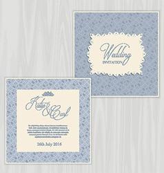 Rustic wedding invitation 0502 vector