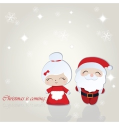 Santa and Misses Claus Merry Christmas background vector