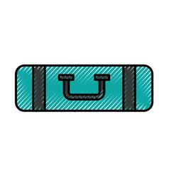Scribble bag camping vector