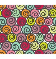 Seamless pattern with swirls vector