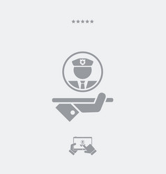 Security service - web icon vector