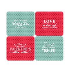 Set happy valentines day and weeding cards vector