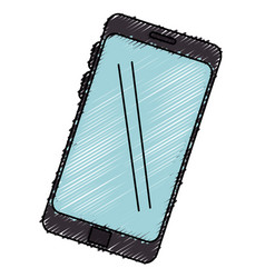 Smartphone device isolated icon vector