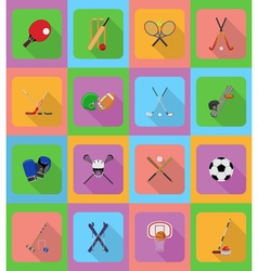 sport flat icons 20 vector image