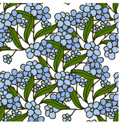stylish beautiful floral seamless pattern vector image