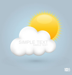 Sun in cloud vector