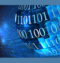 Technology concept hex code digital background vector