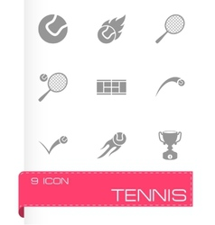 tennis icon set vector image