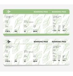 ticket boarding pass vector image