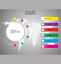 time line info graphic design time line template vector image