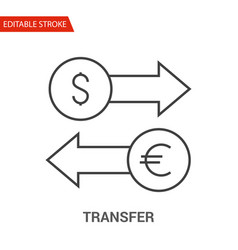 transfer icon thin line vector image