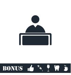 Tribune icon flat vector