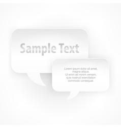 Two speech bubbles vector image