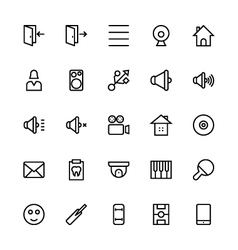 User Interface Colored Line Icons 50 vector image