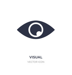 Visual icon on white background simple element vector