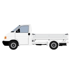 White pickup truck vector