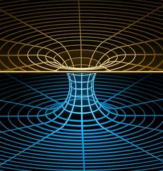 wireframe symbol - wormhole vector image