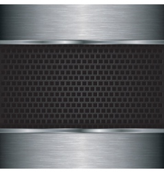 Abstract silver background with metallic grill vector image vector image
