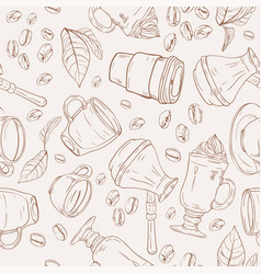 coffee background pattern vector image