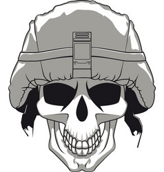 military skull vector image vector image